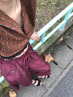秋コーデの写真・画像素材[1541264]