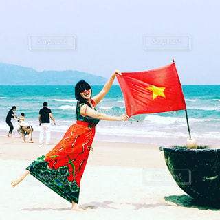 ベトナム ダナンのビーチ Vietnam Da Nangの写真・画像素材[1906023]