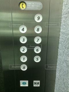 エレベーター操作盤の写真・画像素材[1909471]