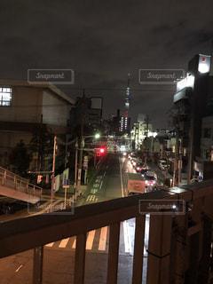 夜の街の景色の写真・画像素材[1927817]