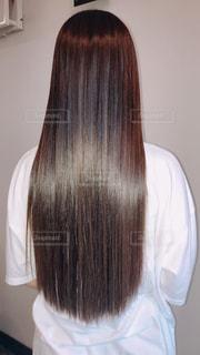トリートメントした髪の写真・画像素材[2313636]