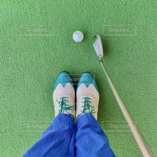 新しいゴルフシューズの写真・画像素材[3043615]