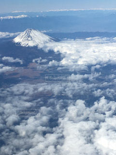 飛行機から見た富士山の写真・画像素材[1959618]