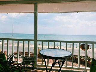 海辺のカフェの写真・画像素材[3218269]