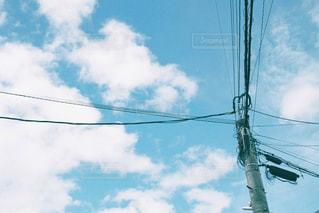 電線と雲の写真・画像素材[3218276]