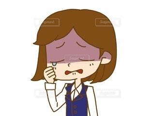 泣いてる女性OLの写真・画像素材[3795948]