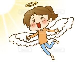 女性 天使 飛んでるの写真・画像素材[4078341]