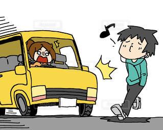 イヤホン 聴きながら 車 危ないの写真・画像素材[4409107]