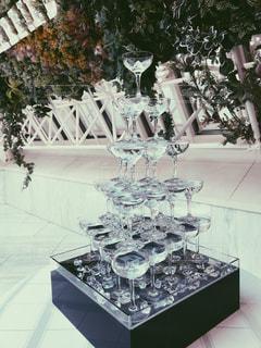 シャンパンタワーの写真・画像素材[2054947]