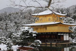 雪化粧の金閣寺の写真・画像素材[1924653]