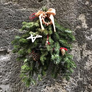 木々を使ってのクリスマスアートの写真・画像素材[1940308]
