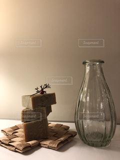 丁寧に作られたオリーブ石鹸の写真・画像素材[1971825]
