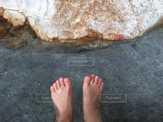足湯の写真・画像素材[2095726]