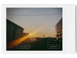 燃えているテレビの写真・画像素材[1934450]
