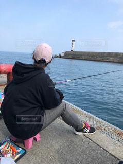エギング釣りの写真・画像素材[2108011]