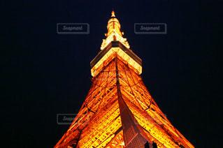夜の東京タワーの写真・画像素材[1968164]