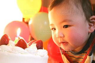 1歳の誕生日の写真・画像素材[3160044]
