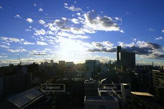 都会の夜明けの写真・画像素材[4600660]