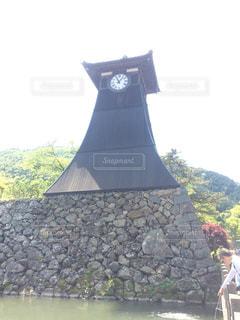 城下町にある出石のシンボルの時計台の写真・画像素材[1940081]