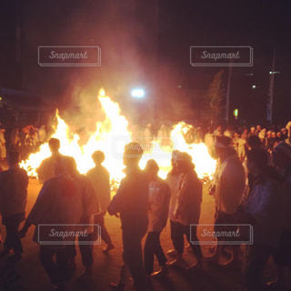 火祭りの写真・画像素材[2090361]