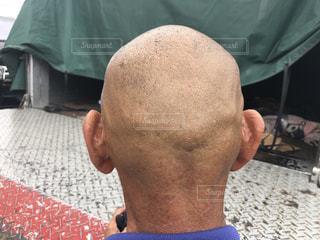 後頭部の写真・画像素材[2391931]
