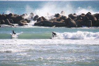 波に乗ってるところの写真・画像素材[2715098]