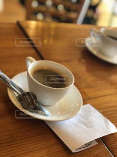コーヒー1杯にメッセージの写真・画像素材[2739835]