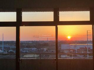 病院から見た朝日です。の写真・画像素材[1948668]