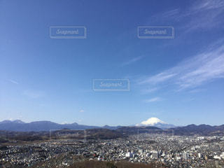 富士山と市街地の写真・画像素材[1965637]