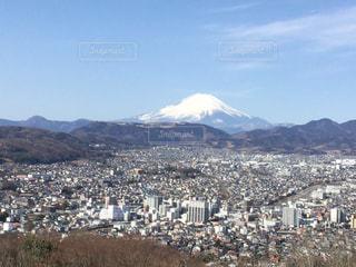 富士山と市街地の写真・画像素材[1965638]