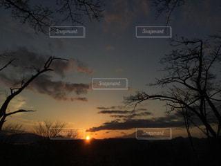富士山と夕日の写真・画像素材[1969894]