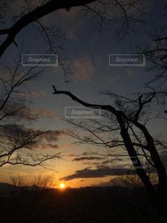 富士山と夕日の写真・画像素材[1970511]