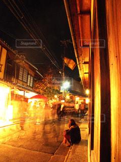 光輝く京都の夜の写真・画像素材[2284002]