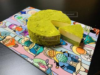 ケーキとかわいいお皿の写真・画像素材[2314435]