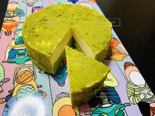 ケーキとかわいいお皿の写真・画像素材[2314436]