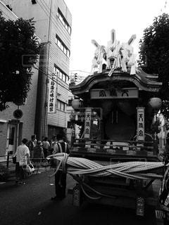 天神祭の神輿の休憩の写真・画像素材[2322662]