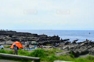 ミニチュア効果の海岸の写真・画像素材[2090232]