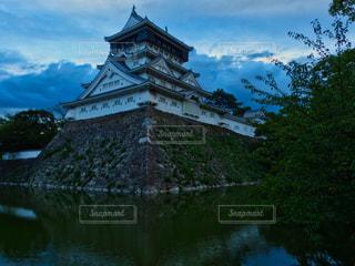 夕暮れの小倉城の写真・画像素材[1983728]