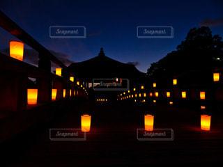 なら燈花会 浮見堂の写真・画像素材[2374347]