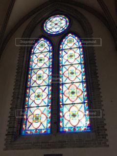 ソウル 明洞聖堂のステンドグラスの写真・画像素材[2026561]