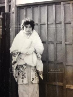 昭和の成人式 着物姿 ノスタルジーの写真・画像素材[2026716]