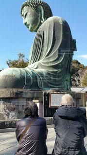 鎌倉大仏とおじいちゃんとおばあちゃんの写真・画像素材[2048441]