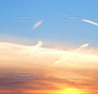 冷たい空気の境界線の写真・画像素材[4045171]