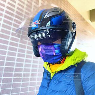 バイクヘルメットの写真・画像素材[4200597]