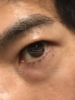 奥二重の目の写真・画像素材[2009926]