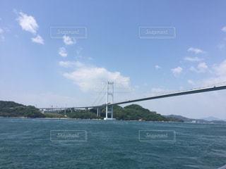 急流体験船から見た来島海峡第三大橋の写真・画像素材[1984882]