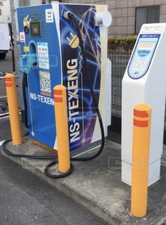 電気自動車スタンドの写真・画像素材[3145387]