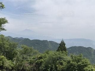 山から見た富士山の写真・画像素材[1986391]