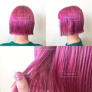 カラーバターで綺麗なピンクにの写真・画像素材[1991901]