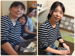 減量比較の写真・画像素材[2639856]